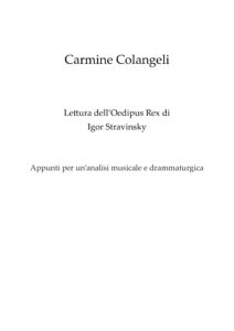 Stravinsky Lettura Oedipus